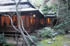 同時に春季公開が始まった分館爲三郎記念館(庭園からの眺めです)