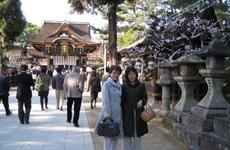 最後に梅が満開の北野天満宮に寄って、名古屋に帰りました。