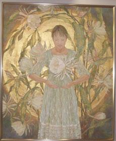 山本眞希「月あかりの刻」2008年 (たて220cm よこ182cm)