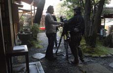 撮影開始、まずは屋外から。。。