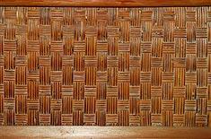 「葵の間」の網代の天井