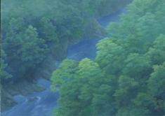 東山魁夷「若葉の渓」1986年  古川美術館蔵