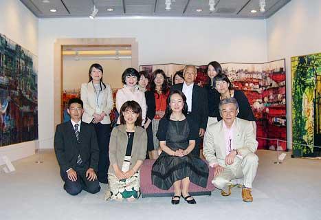 古川美術館にて鳥羽先生を囲み記念写真