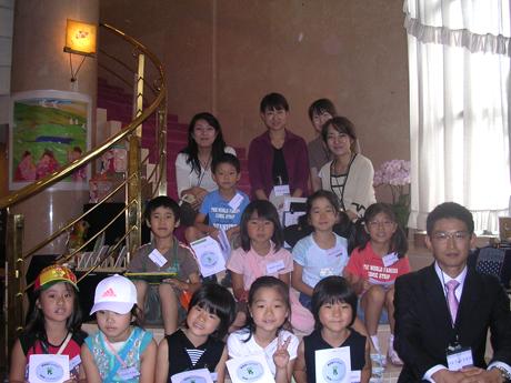 最後は、古川美術館にて職員とこどもたちと記念撮影☆