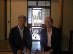 古川館長と高北先生