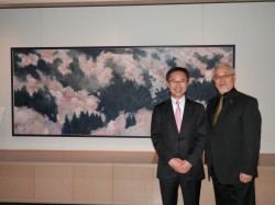 古川議員(左)、木村先生(右)
