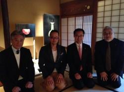 古川館長、西中先生、古川議員、木村先生