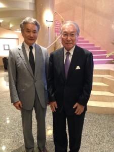 古川館長(左)とUCC上島会長