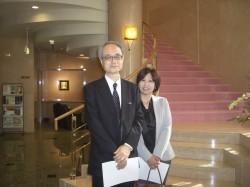 増田孝先生(左)
