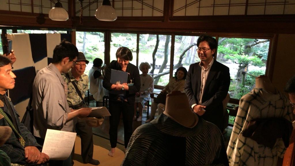 爲三郎記念館のギャラリートークに特別出演される竹田昌弘様