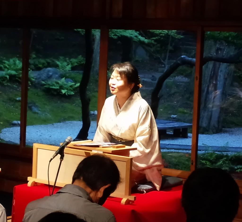 第一部 文学講座 小説家 奥山景布子先生