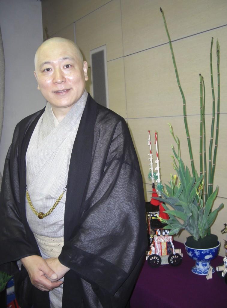 小川珊鶴先生とお手本のお花