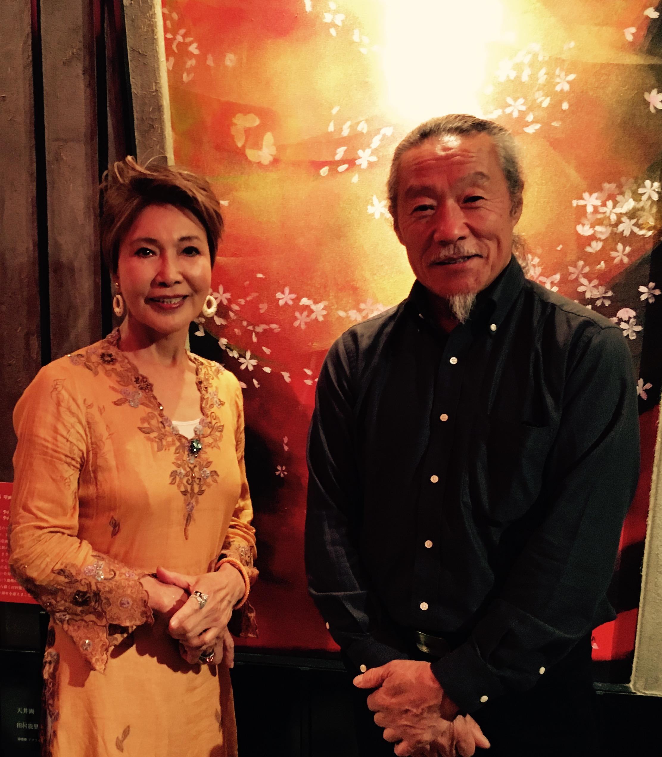 喜多郎様(右) 田村能里子先生(左)